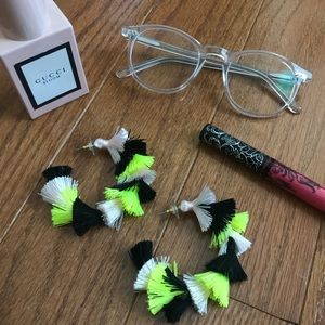 Baublebar multi-colored tiered hoop earrings